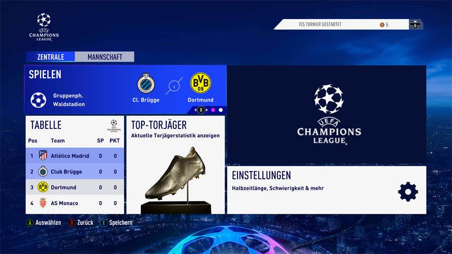 Spiele eine Saison in der europäischen Königsklasse