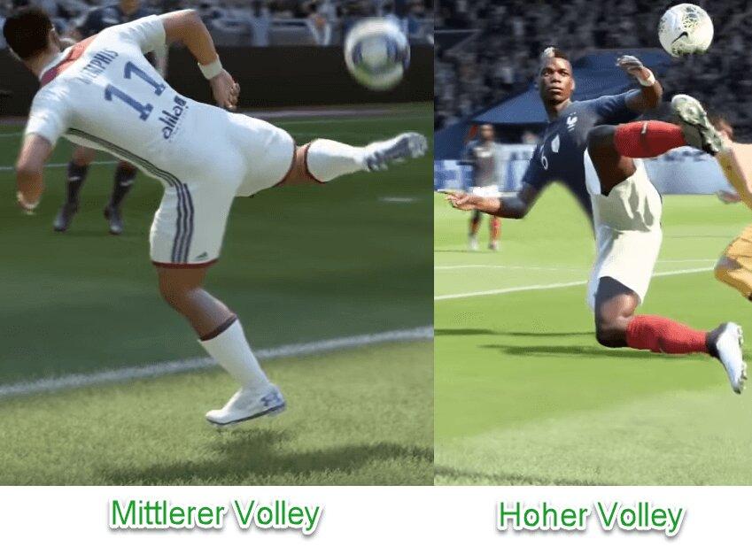 Varianten von Flair-Volleys