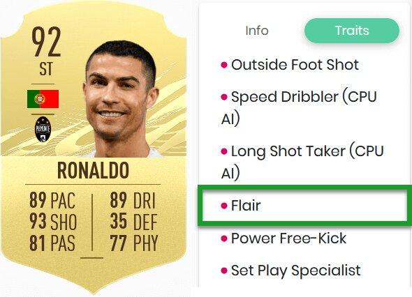 FIFA 22 Flair-Eigenschaft