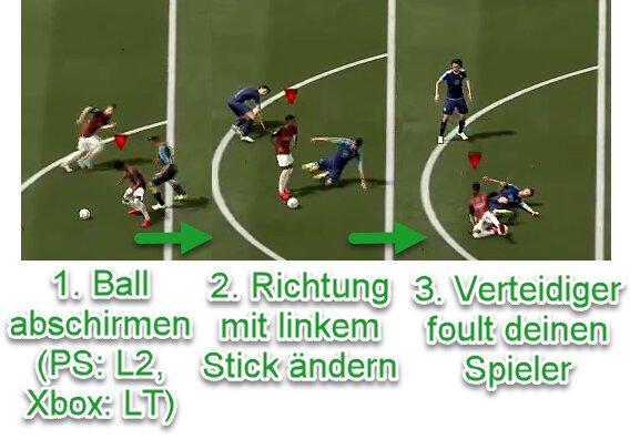 FIFA 22 Freistoß bekommen