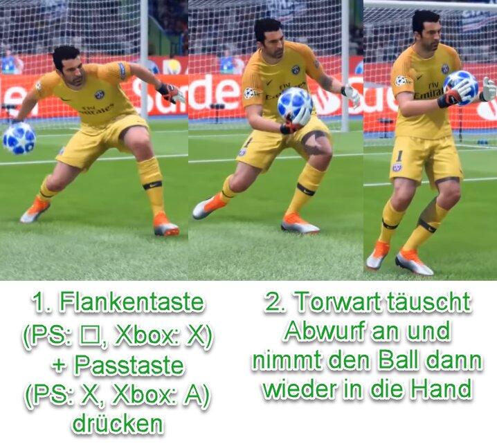 FIFA 22 Torwart-Abwurf antäuschen