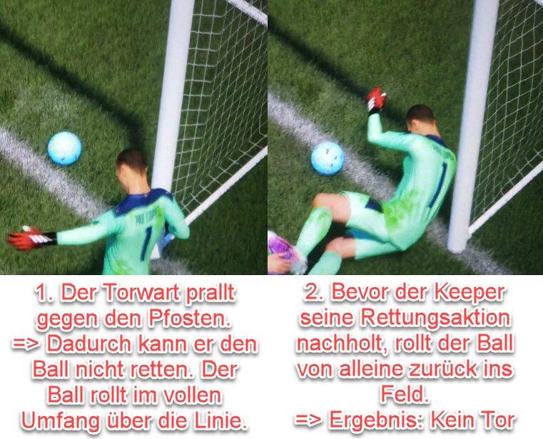 FIFA 22 Unsichtbarer-Torhüter-Bug