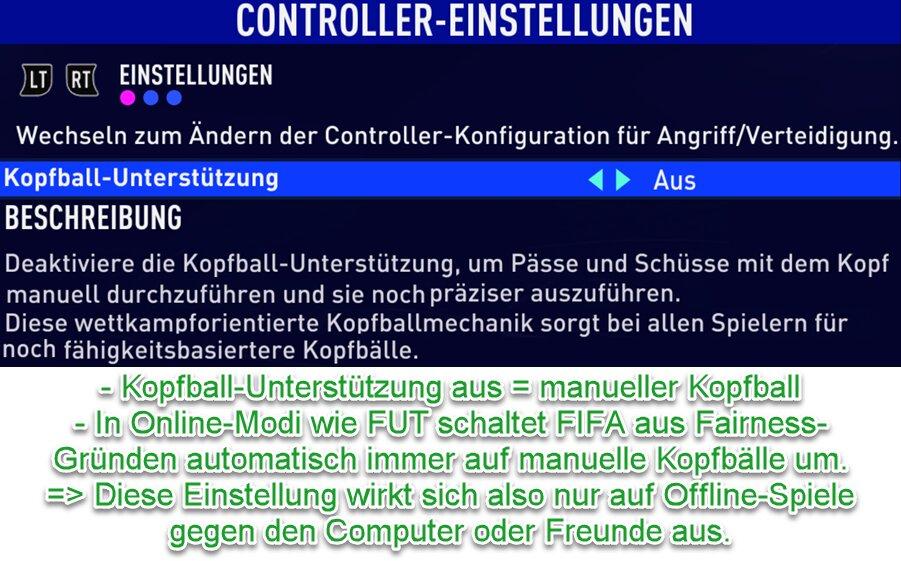 FIFA 21 Manueller Kopfball