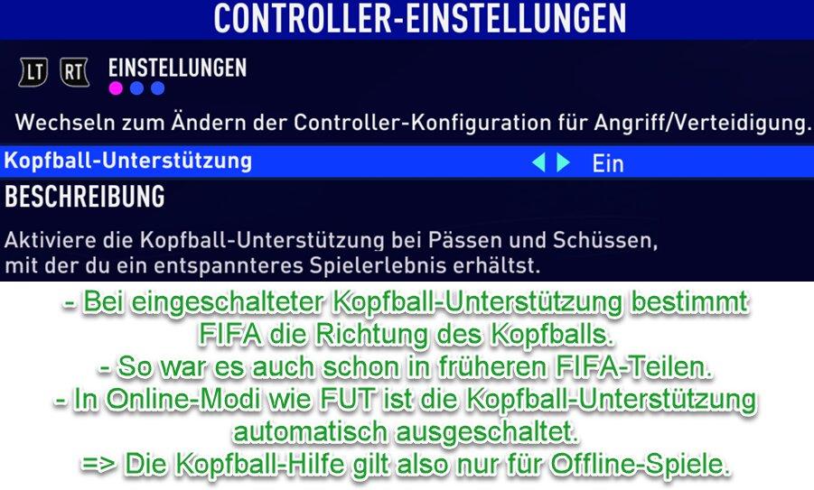 FIFA 21 Kopfball-Unterstützung