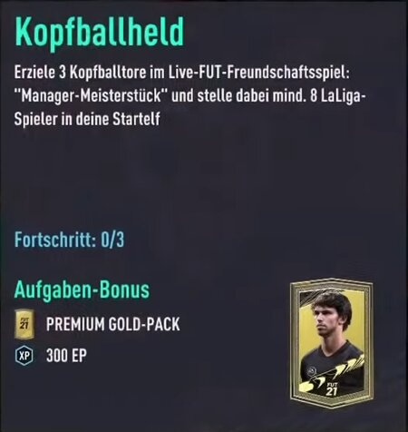 FIFA 21 Kopfball-Aufgabe