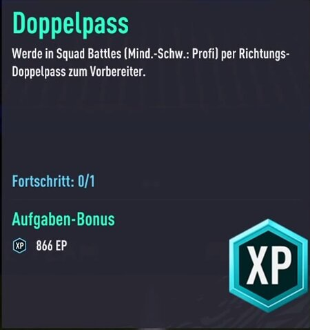 FIFA 21 Doppelpass-Aufgabe