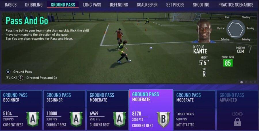 FIFA 21 Doppelpass-Training