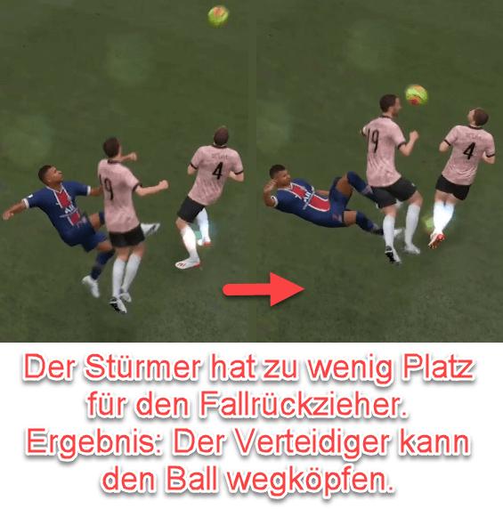 FIFA 22 Zu wenig Platz beim Fallrückzieher