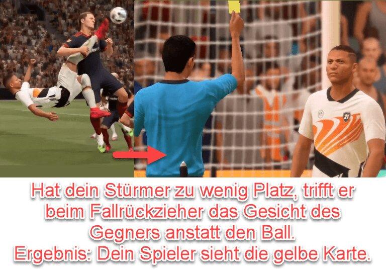 FIFA 22 Foul beim Fallrückzieher