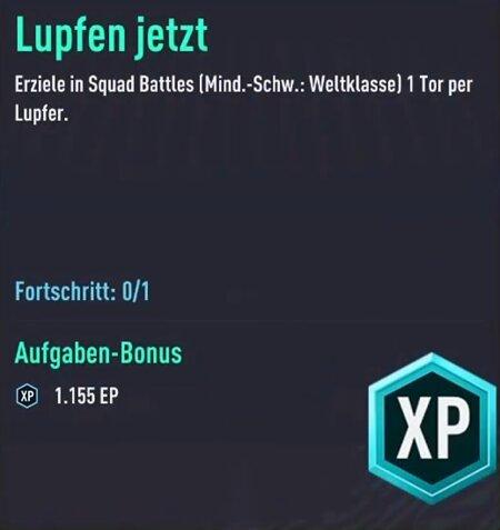FIFA 22 Lupfer-Aufgabe