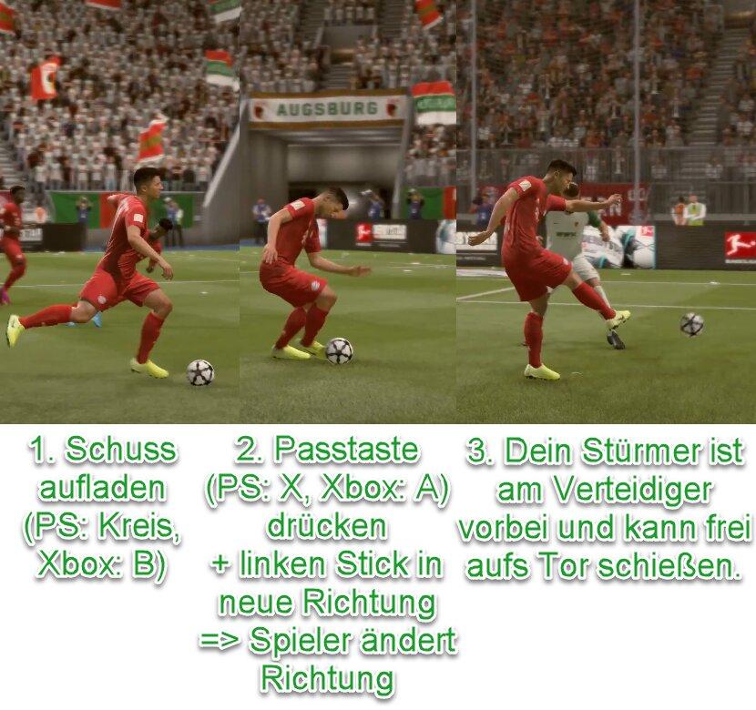 FIFA 22 Schuss antäuschen
