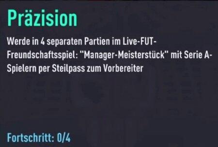 FIFA 22 Steilpass-Aufgabe