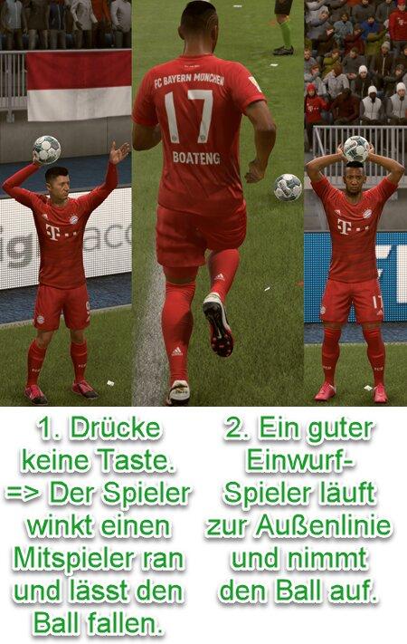 FIFA 21 Einwurf wechseln