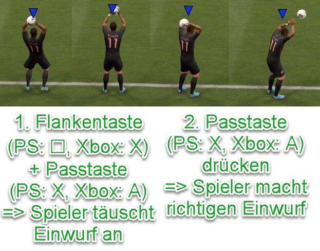 FIFA 22 Einwurf antäuschen