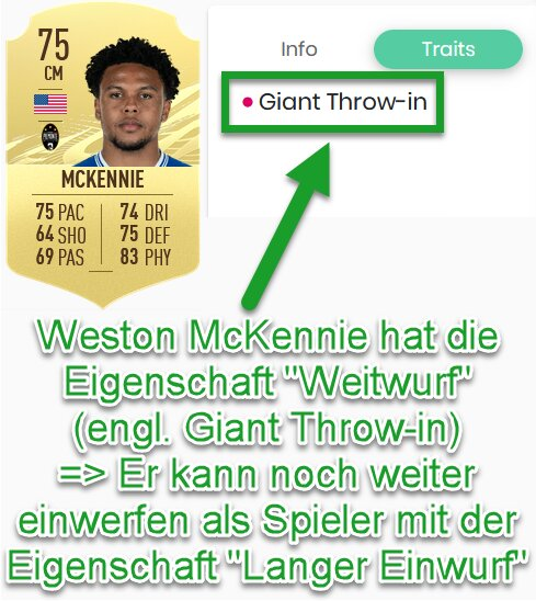 FIFA 21 Weitwurf-Eigenschaft