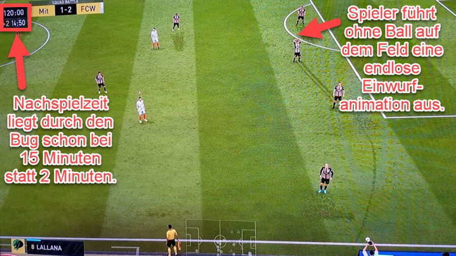 FIFA 22 Endlose Einwurfanimation