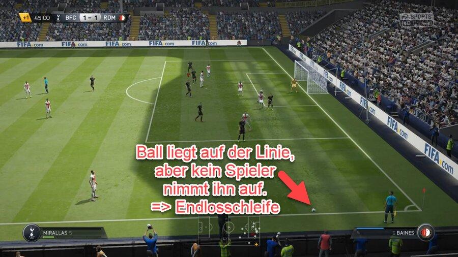 FIFA 22 Einwurf-Fehler