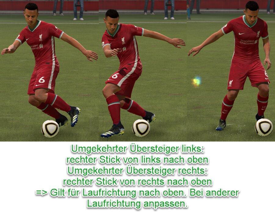 FIFA 21 Umgekehrter Übersteiger Tastenkombination