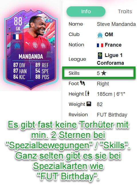 FIFA 21 Übersteiger Torwart mit genug Skills