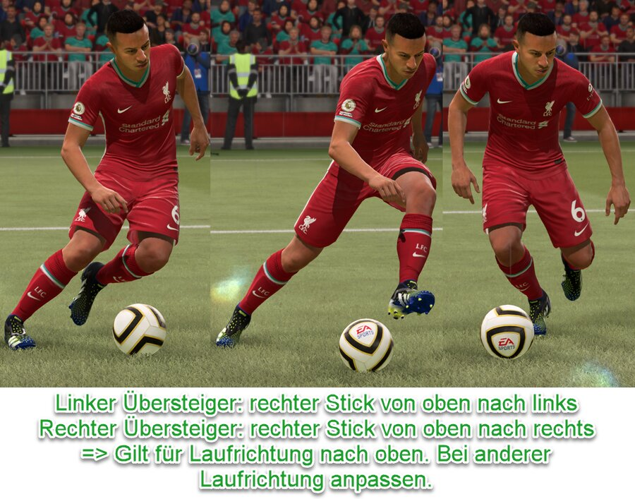 FIFA 21 Übersteiger Tastenkombination
