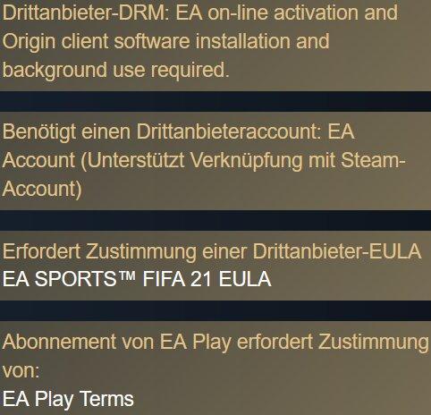 FIFA 21 Steam-Anforderungen