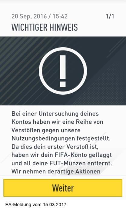 Verhalten Des Ea Supports Fifa 4 Life
